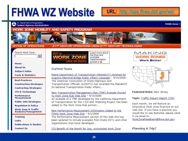 FHWA WZ Website