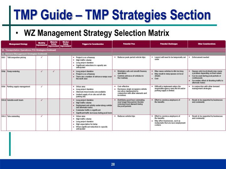 TMP Guide – TMP Strategies Section