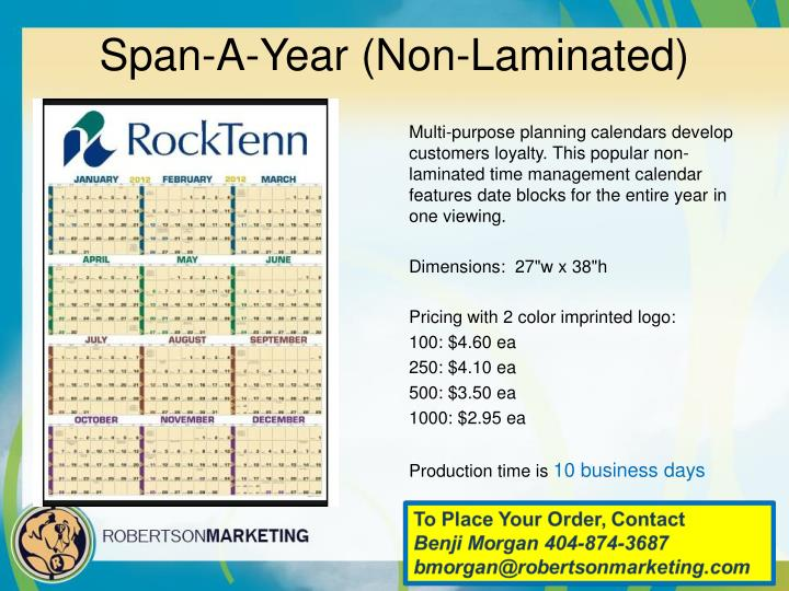 Span-A-Year (Non-Laminated)