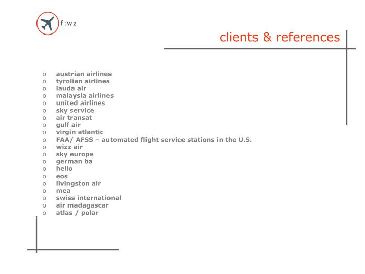 clients & references