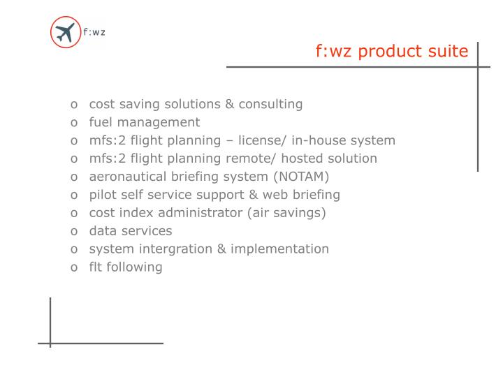 f:wz product suite