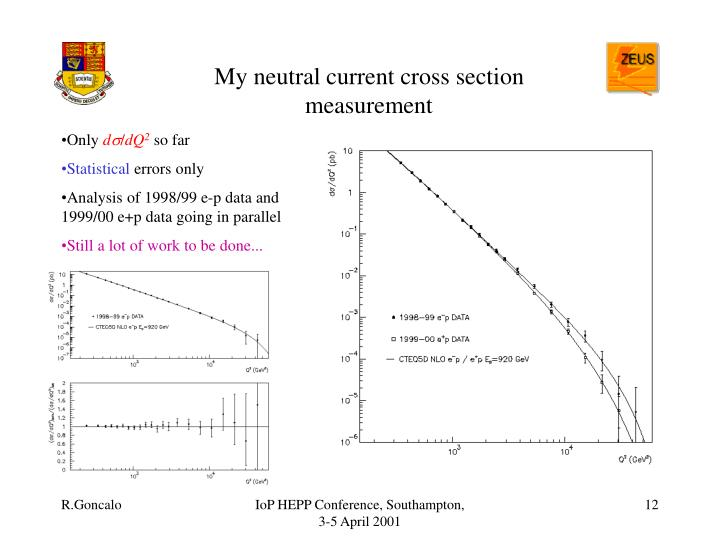My neutral current cross section measurement