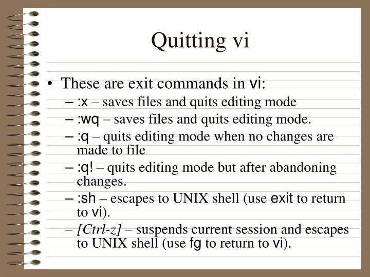 Quitting vi