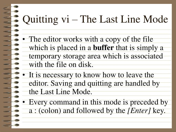 Quitting vi – The Last Line Mode