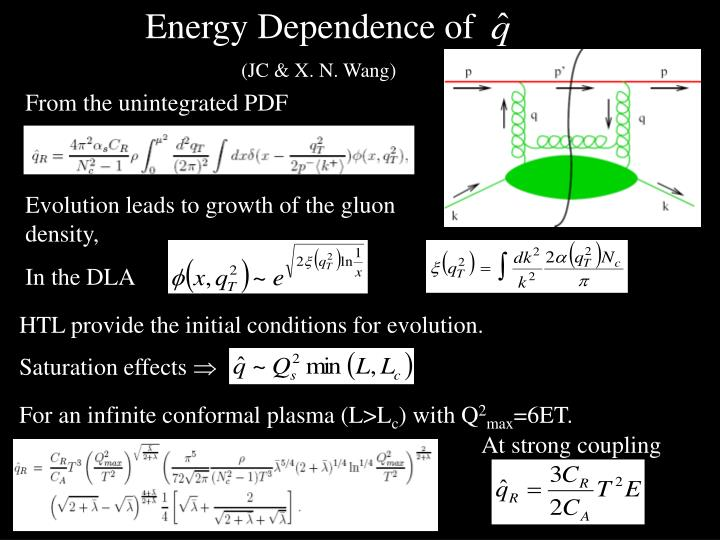 Energy Dependence of