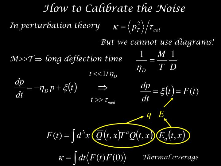 How to Calibrate the Noise