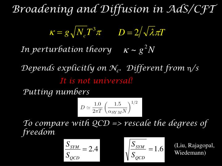 Broadening and Diffusion in AdS/CFT