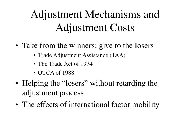 Adjustment Mechanisms and Adjustment Costs