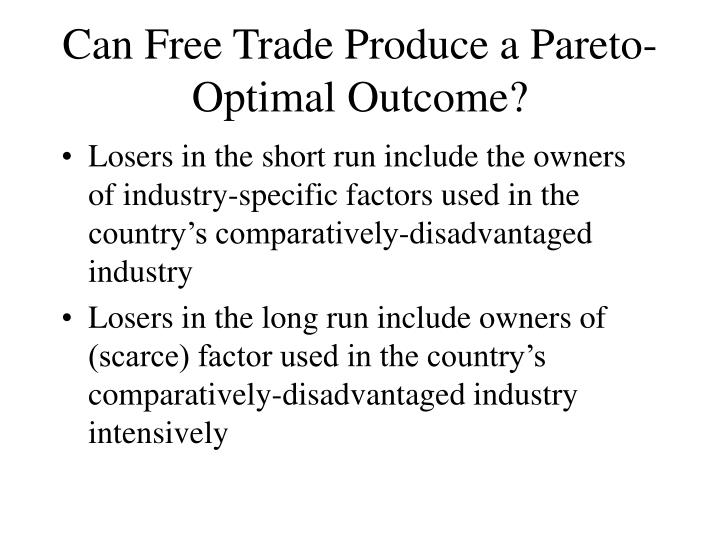 Can Free Trade Produce a Pareto-Optimal Outcome?
