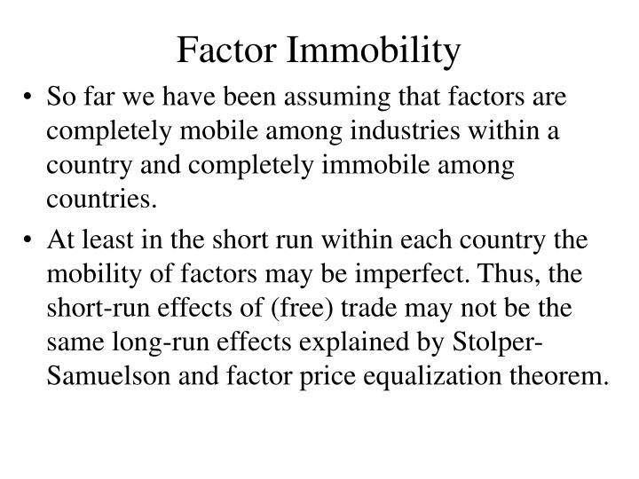 Factor Immobility