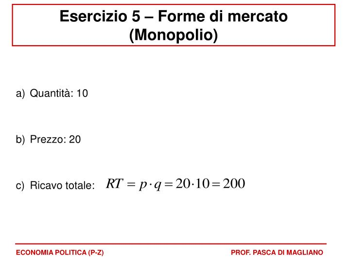 ECONOMIA POLITICA (P-Z)