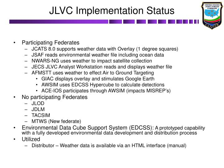 JLVC Implementation Status