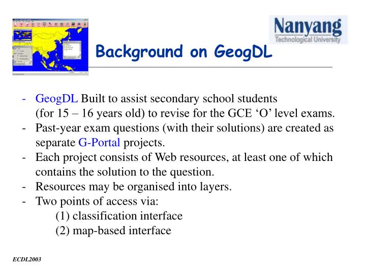 Background on GeogDL