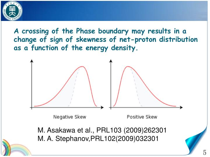 A crossing of the Phase boundary may results in a change of sign of skewness of net-proton distribution as a function of the energy density.
