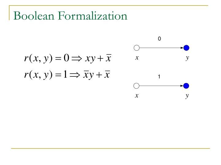 Boolean Formalization