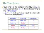 the tests cont