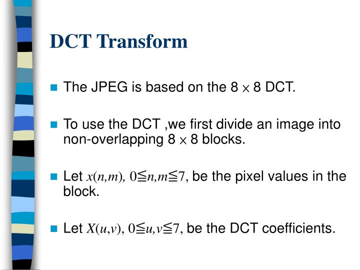 DCT Transform