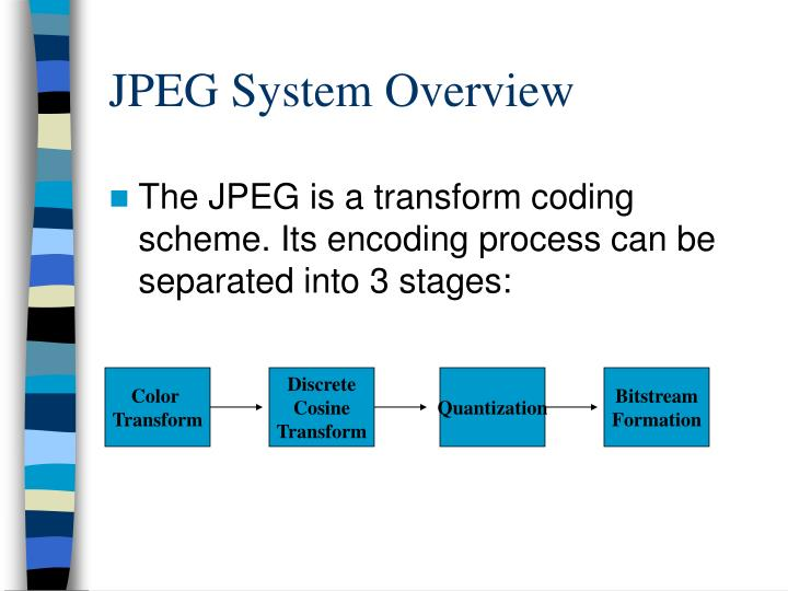 Jpeg system overview