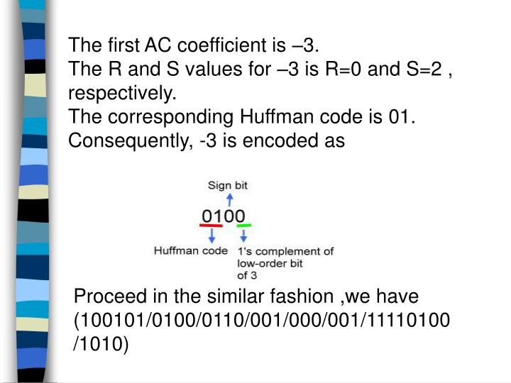 The first AC coefficient is –3.