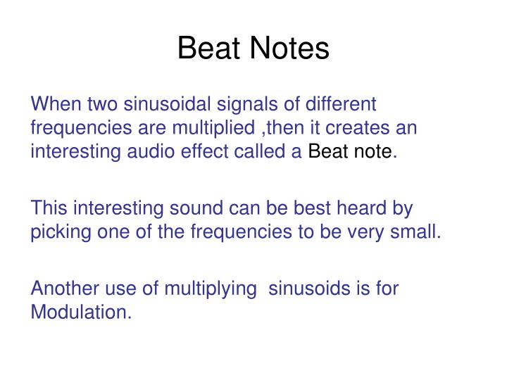Beat Notes