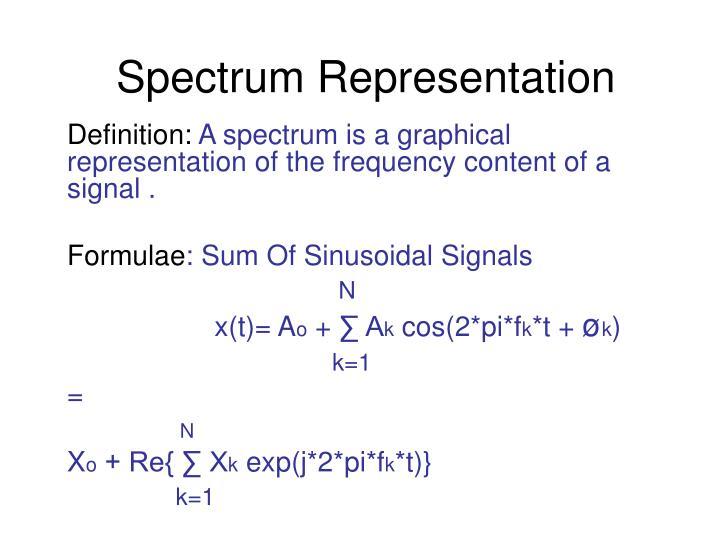 Spectrum Representation