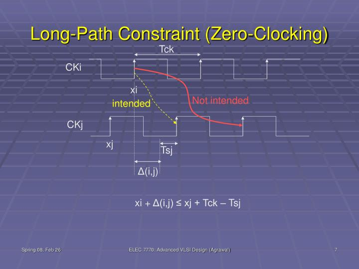 Long-Path Constraint (Zero-Clocking)
