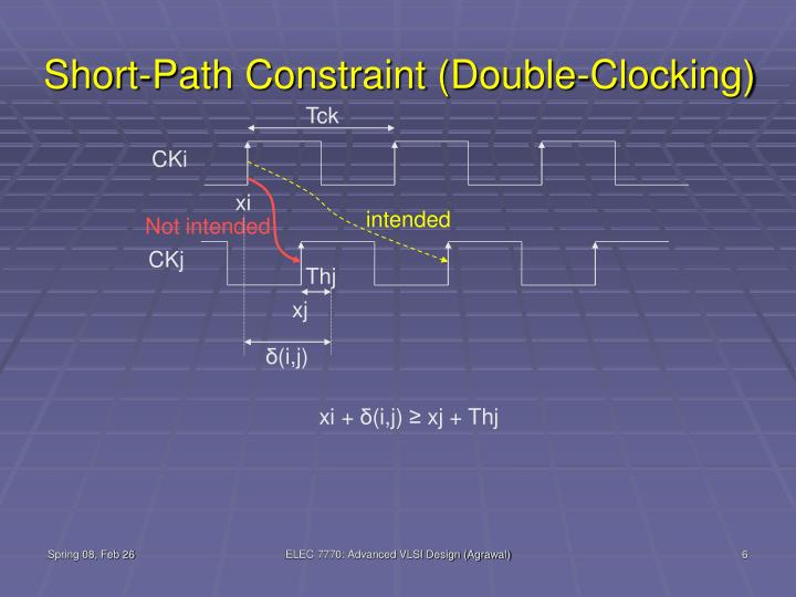 Short-Path Constraint (Double-Clocking)