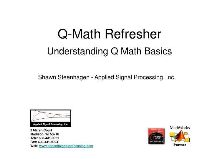 Q math refresher