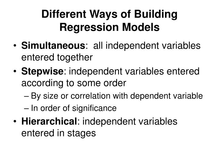 Single Equation Regression Models Ppt