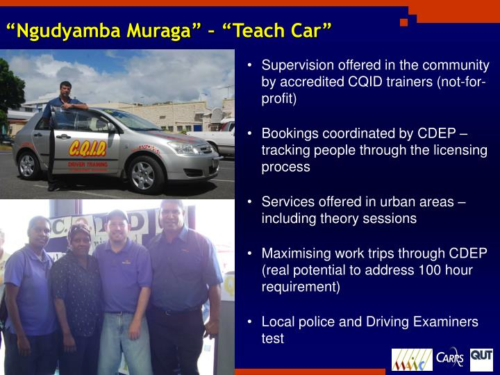 """Ngudyamba Muraga"" – ""Teach Car"""