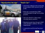 ngudyamba muraga teach car
