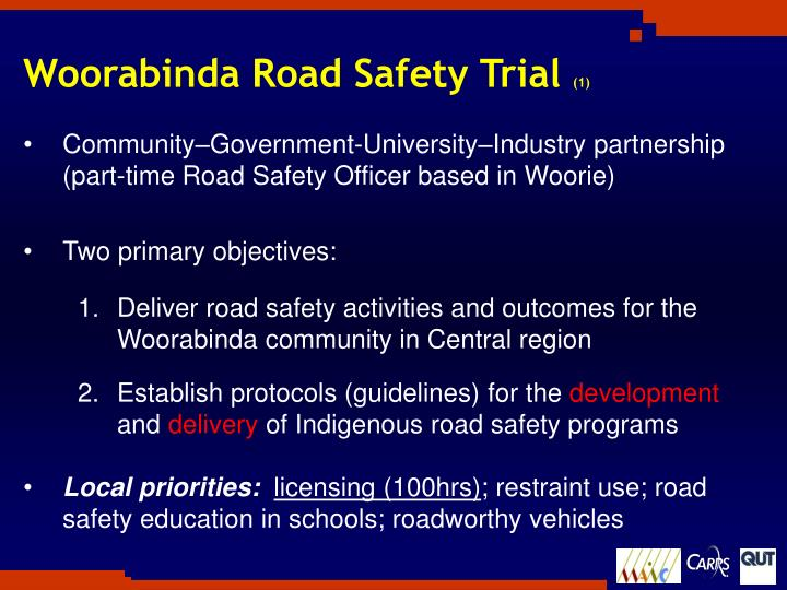 Woorabinda Road Safety Trial