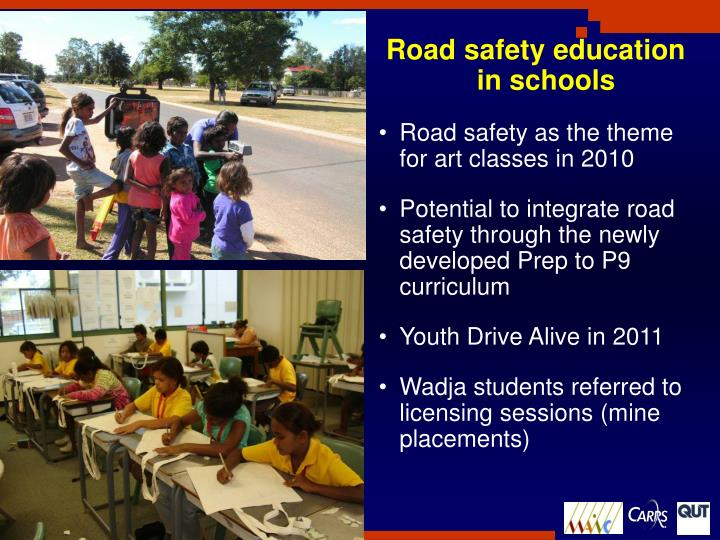 Road safety education in schools