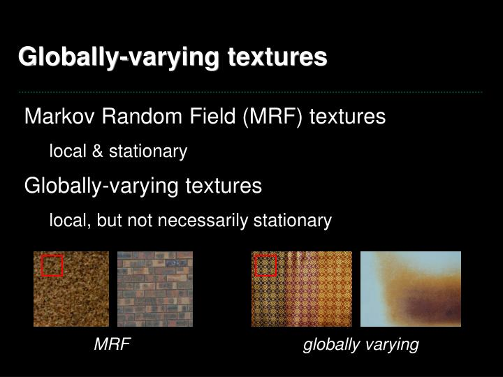 Globally-varying textures
