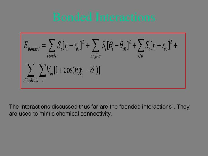 Bonded Interactions