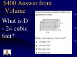 400 answer from volume
