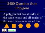 400 question from polygons