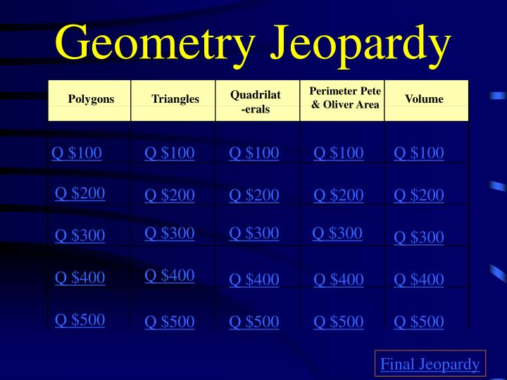 Geometry jeopardy