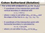cohen sutherland solution1
