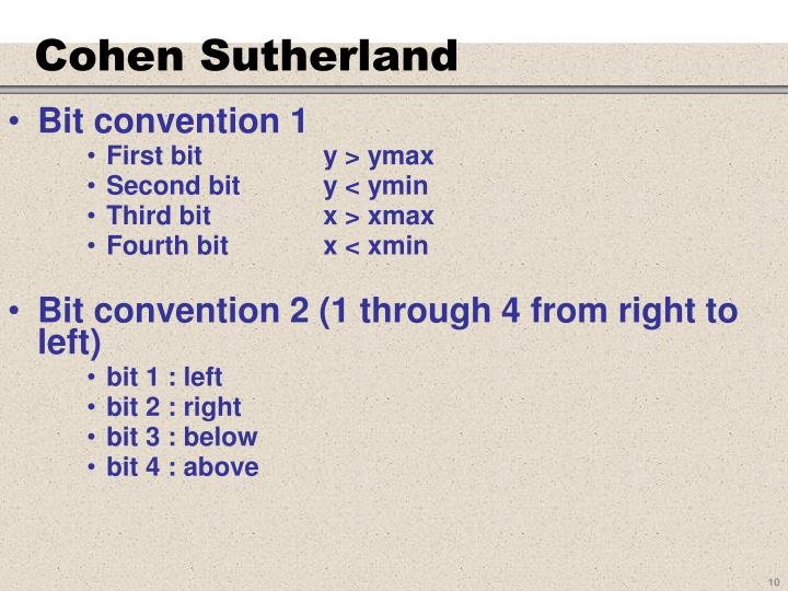 Cohen Sutherland