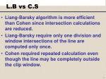 l b vs c s