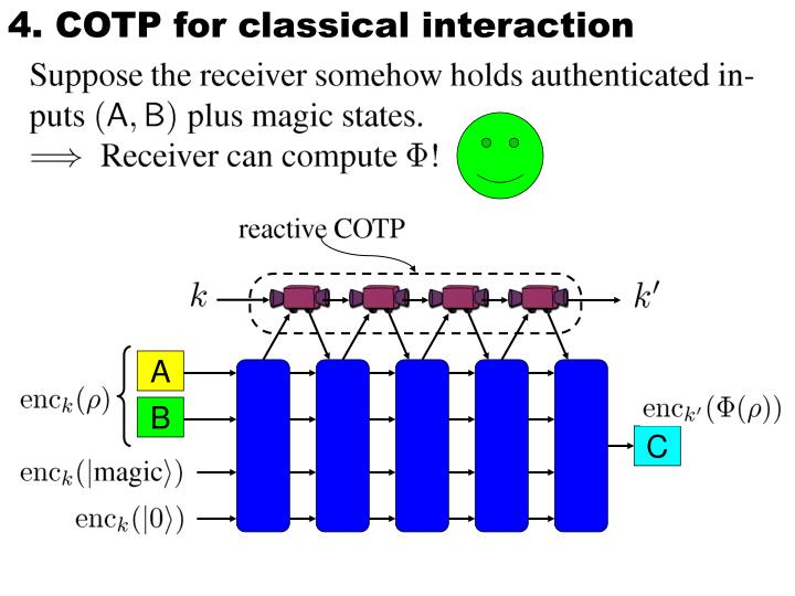 4. COTP for classical interaction