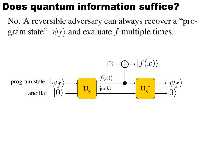 Does quantum information suffice?