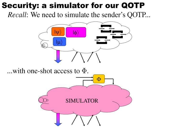 Security: a simulator for our QOTP