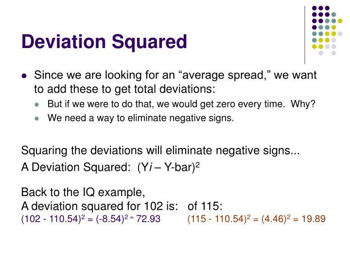 Deviation Squared