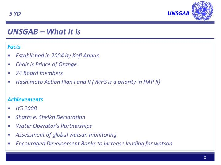 UNSGAB – What it is