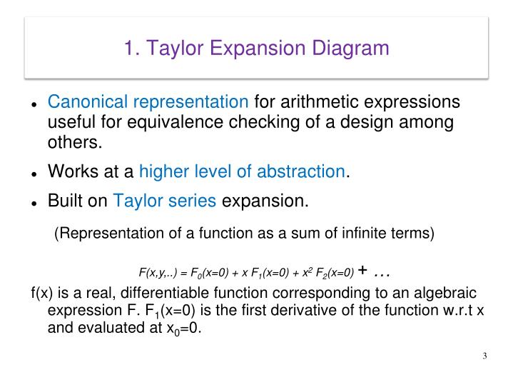 1 taylor expansion diagram
