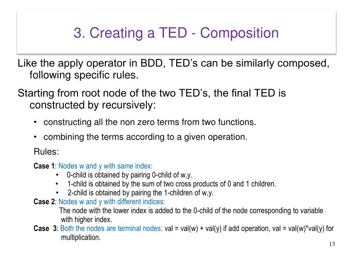 3. Creating a TED - Composition