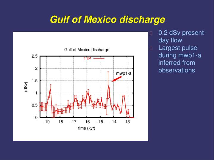 Gulf of Mexico discharge