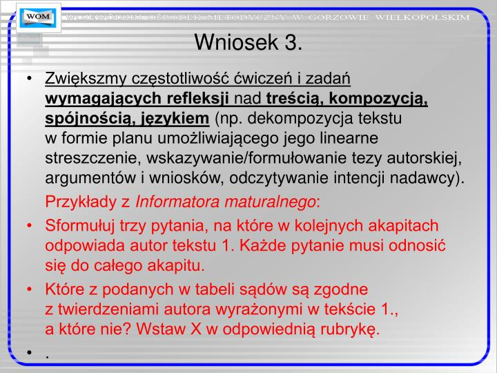 Wniosek 3.